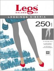 Теплые леггинсы с начесом   Legs LEGGINGS SIBERIA 250 den