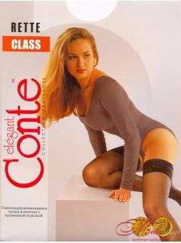 Самоудерживающиеся чулки в сеточку Conte CLASS RETTE