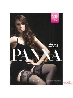 Чулки с ажурной фиксирующей резинкой Panna EVA 20den