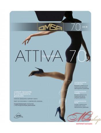 Поддерживающие колготки с шортиками Omsa ATTIVA 70den