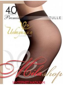 Тонкие колготки с имитацией тюля Интуиция Premium TULLE 40den