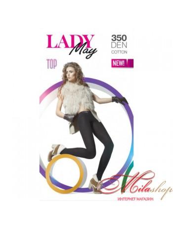 Колготки из хлопка с заниженной талией Lady May TOP 350den