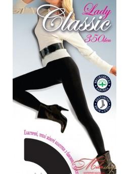 Теплые женские колготки из хлопка Lady Classic 350den