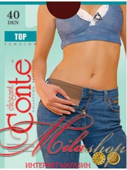 Прозрачные колготки с низкой линией талии Conte TOP 40den
