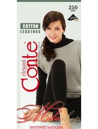 Женские легинсы из хлопка Conte COTTON 250 den