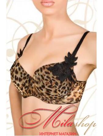 Бюстгальтер с леопардовым орнаментом Marsana 1024