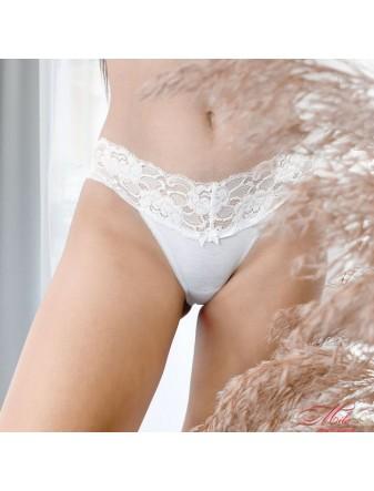 Женские трусики-слип с кружевным поясом Marsana 01-051