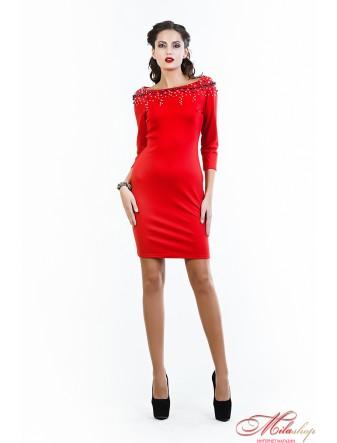 """Красивое платье в красном цвете """"Кармен"""""""