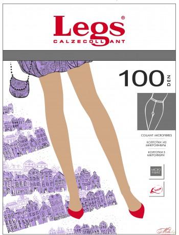 Плотные элегантные колготки Legs TETTI 100den