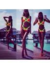 Яркий купальник с переплетами Fashion 1100