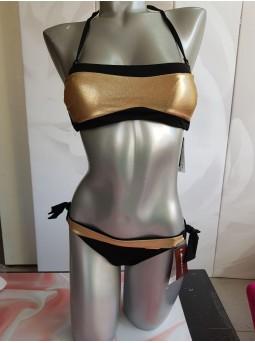Купальник Anabel Arto 991-045 черный с золотой декоративной вставкой