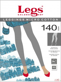 Плотные элегантные леггинсы  Legs LEGGINGS MICRO COTTON 140 den