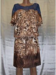 Женское платье с леопардовым орнаментом  Fashion 2049