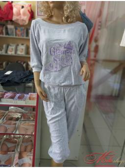"""Мягкий велюровый костюм """"Роксана"""" 264В"""
