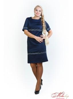 """Трикотажное платье для девушек с пышными формами """"Борислава"""""""