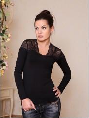 Блуза с ажурными вставками Cornett БЛ 090