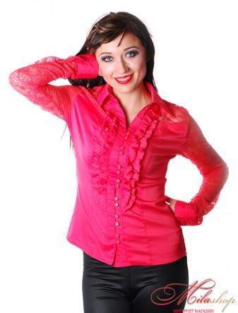 Блуза женская с кружевными рукавами