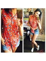 Стильна шифоновая блуза Fashion 2034