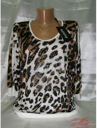 Женская блуза с леопардовым орнаментом
