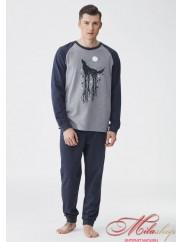 Хлопковая мужская пижама KEY 704