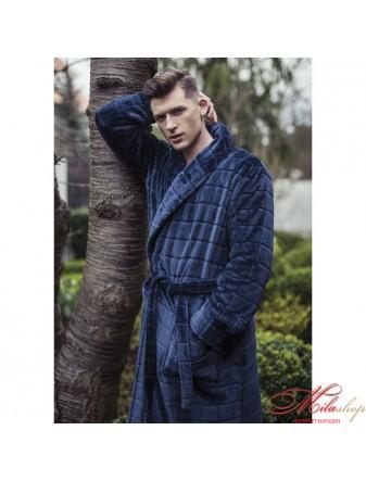 Утепленный мужской халат KEY MGL-240