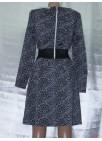 Элегантное платье из плотного трикотажного полотна