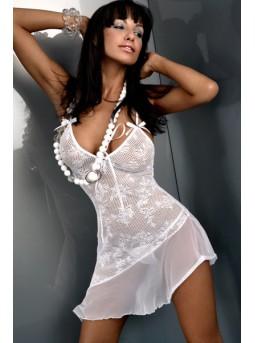 Эротическая сорочка из сетчатого полотна с узором Livia Corsetti INEZ
